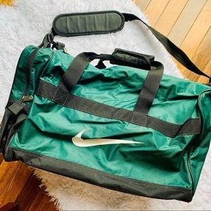 NIKE Green 90s Style Duffle Tote Gym Bag